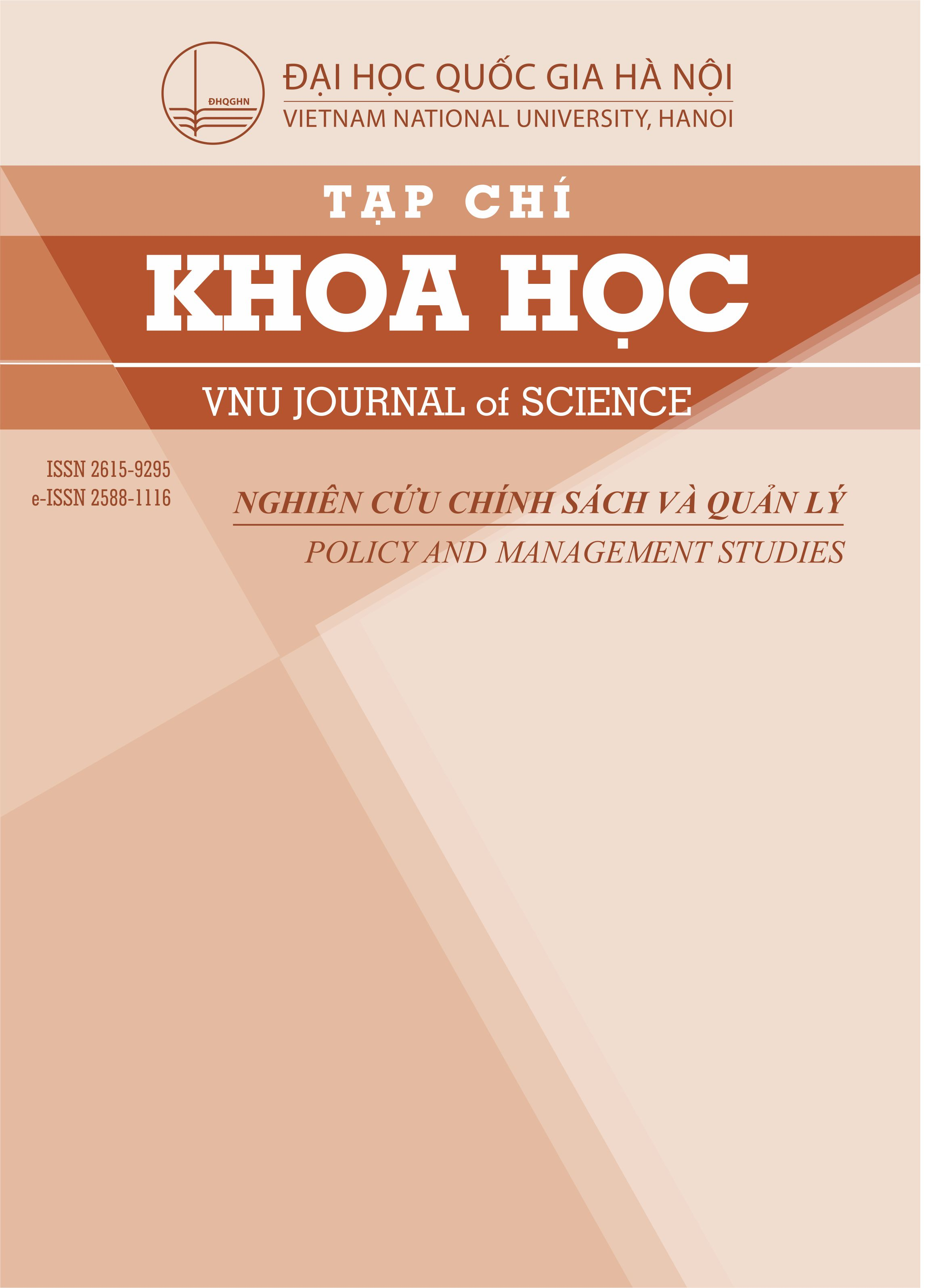 VNU Journal of Science: Policy and Management Studies